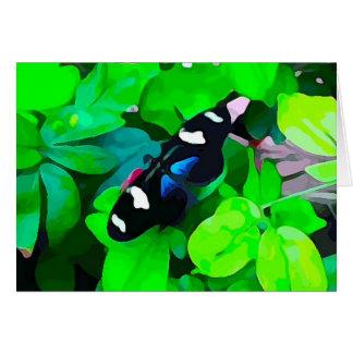 Blauwe Zwart-wit van de vlinder Kaart