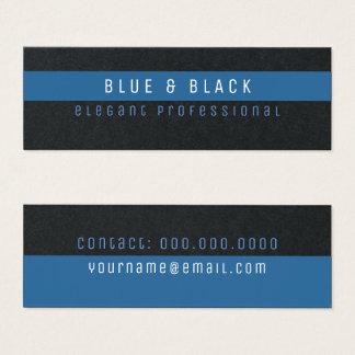 blauwe & zwarte elegante propremie mini visitekaartjes