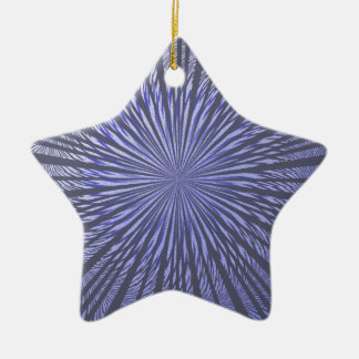 Blauwe Zwarte Illusie Keramisch Ster Ornament
