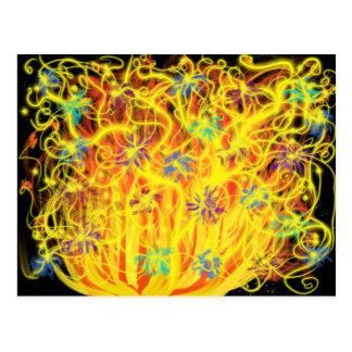 Blauwe Zwarte van de Vlammen van de Kunst van de Briefkaart