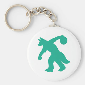 Blauwgroen Anthro HondsKegelen Keychain 0001 Sleutelhanger