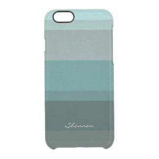 Blauwgroen Blauwgroene Subtiele Elegante Doorzichtig iPhone 6/6S Hoesje