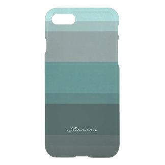 Blauwgroen Blauwgroene Subtiele Elegante iPhone 7 Hoesje
