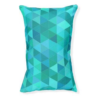 Blauwgroen driehoekspatroon hondenbedden