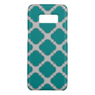 Blauwgroen en grijze Quatrefoil Case-Mate Samsung Galaxy S8 Hoesje