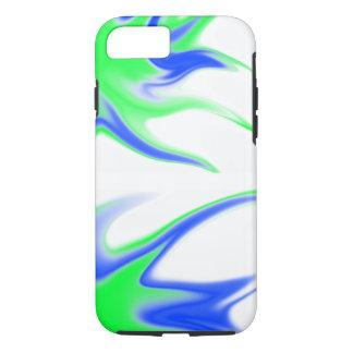 Blauwgroen en Wit iPhone 7 Hoesje