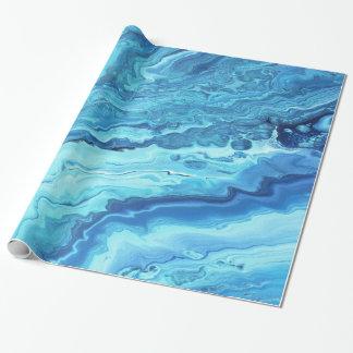Blauwgroen Geode Cadeaupapier