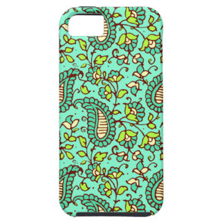 Blauwgroen iPhone 5 van Paisley Tough van de Partn Tough iPhone 5 Hoesje