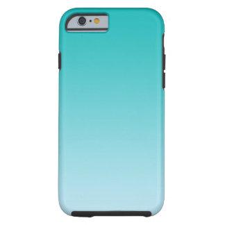 Blauwgroen Ombre Tough iPhone 6 Hoesje
