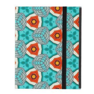 Blauwgroen & Oranje Dromen iPad Hoesje