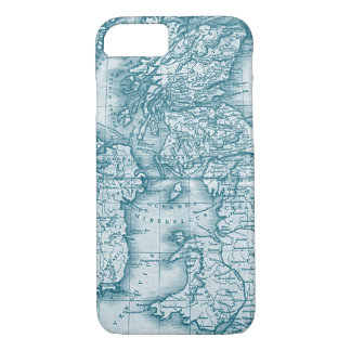 Blauwgroen Oude iPhone 7 van de Kaart van de iPhone 7 Hoesje