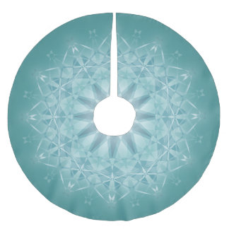 Blauwgroen Ster Mandala Kerstboom Rok