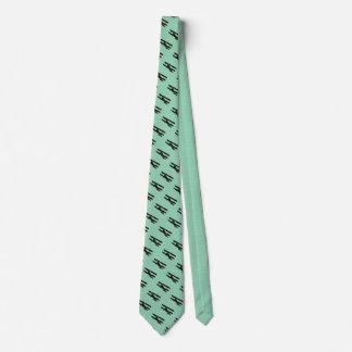 Blauwgroen vliegtuig eigen stropdassen
