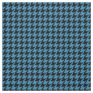 Blauwgroen Zwart Geweven Geometrisch Patroon