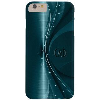 Blauwgroene Metaal Retro Dynamische Golf Barely There iPhone 6 Plus Hoesje