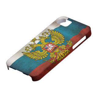 Blazende vlag van Rusland Barely There iPhone 5 Hoesje