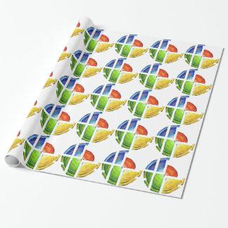 Blessinia - kleurrijke zon cadeaupapier