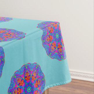 Blij Blauw Tafelkleed Mandala