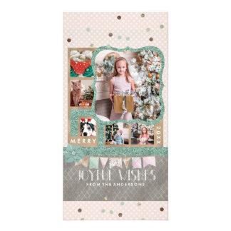 Blije Kerstmis 6 van Wensen de Collage van de Foto Kaart