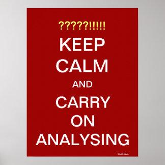 Blijf de Motivatie Slogan van de Analist analysere Poster
