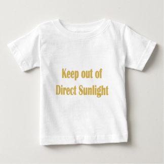 blijf van direct zonlicht weg baby t shirts
