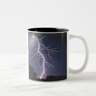 Bliksem Tweekleurige Koffiemok