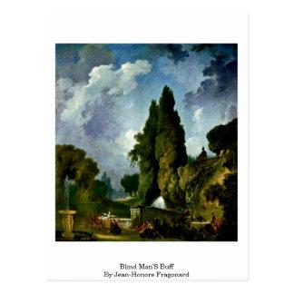 Blinden Bleekgeel door Jean-Honore Fragonard Briefkaart