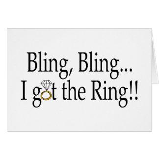 Bling Bling kreeg ik de Ring Wenskaart