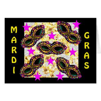 BLING MARDI GRAS KAART