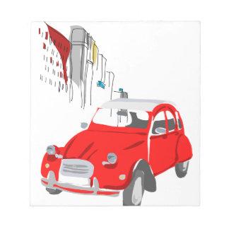 Blocnote met Citroën 2 de Illustratie van cv