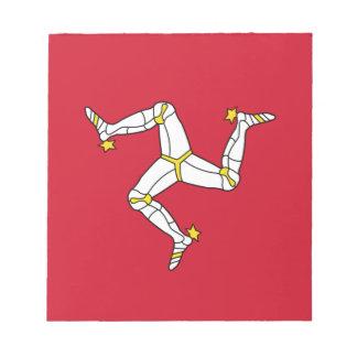 Blocnote met de Vlag van het Eiland Man