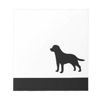 Blocnote van het de hond de zwarte silhouet van de