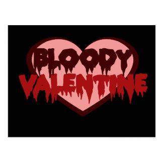 Bloedig Valentijn Briefkaart