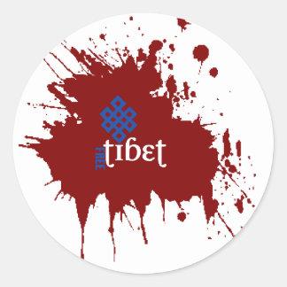 Bloedig vrij Tibet Ronde Sticker