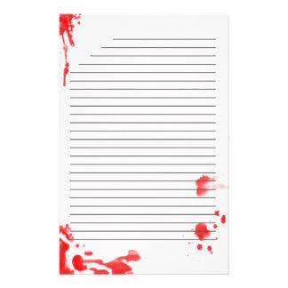 Bloedvlek Briefpapier
