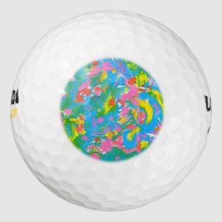 Bloei-Hand van het neon schilderde de Abstracte Golfballen
