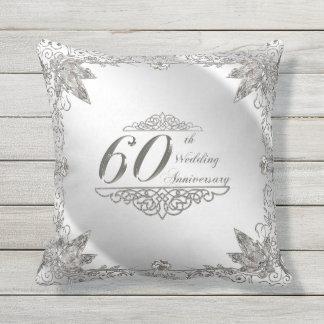 Bloei het 60ste Jubileum van de Diamant werpen Buitenkussen