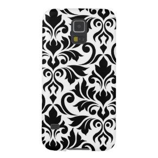 Bloei Kunst I van het Damast Zwarte op Wit Galaxy S5 Hoesje