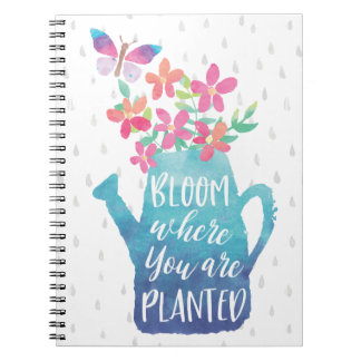 Bloei waar u wordt geplant notitieboek