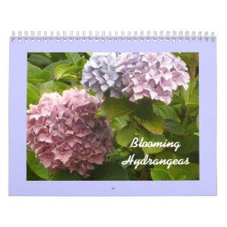 Bloeiende Hydrangea hortensia's Kalender