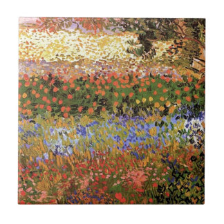Bloeiende Tuin, Vincent bestelwagen Gogh. Keramisch Tegeltje