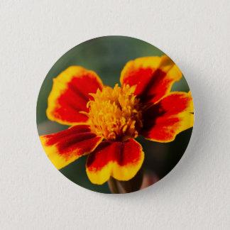 bloem in de tuin ronde button 5,7 cm