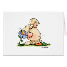 bloem-konijntje-nobgtxt12x12-cp wenskaart