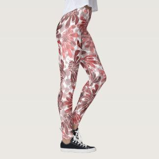 bloem patroon leggings
