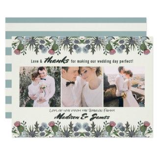 Bloem | van de Distel van het bedankt Huwelijk | 3 Kaart