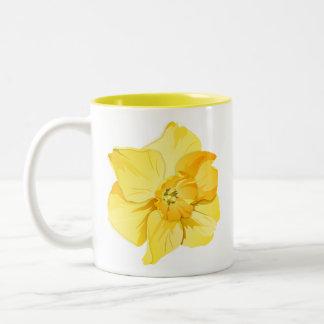 Bloem van de Lente van de kort-Trompet van de gele Tweekleurige Koffiemok
