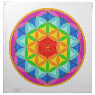Bloem van het Leven Chakra10 Katoenen Servet