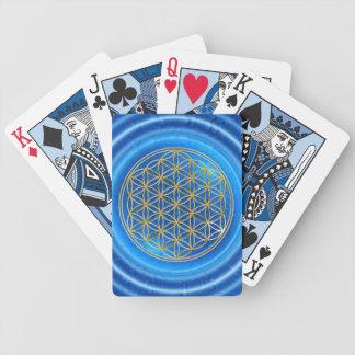 BLOEM VAN het LEVEN - goud/Blume des Lebens Poker Kaarten