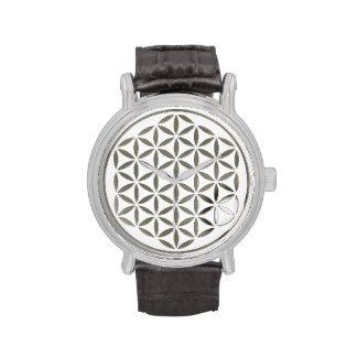 Bloem van het Leven - zilver - zegel Horloge