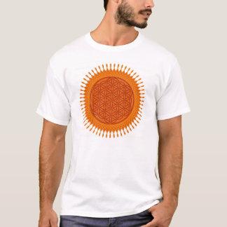 Bloem van Levend/zonnig ontwerp T Shirt